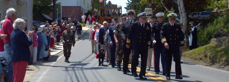 Veterans marchign in parade
