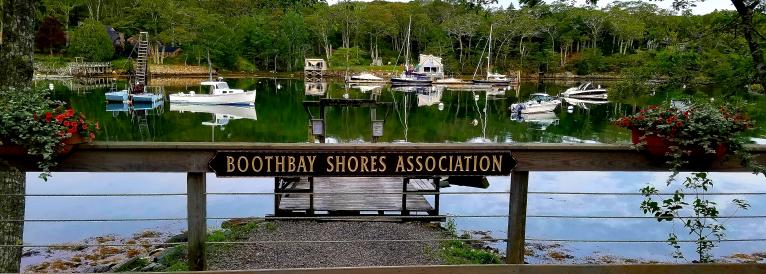 Boothbay Shores Association Dock with Lobster Boat